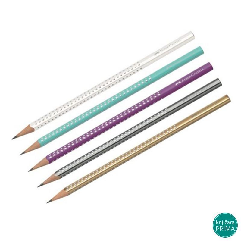 Grafitna olovka FABER CASTELL HB sparkle pearl