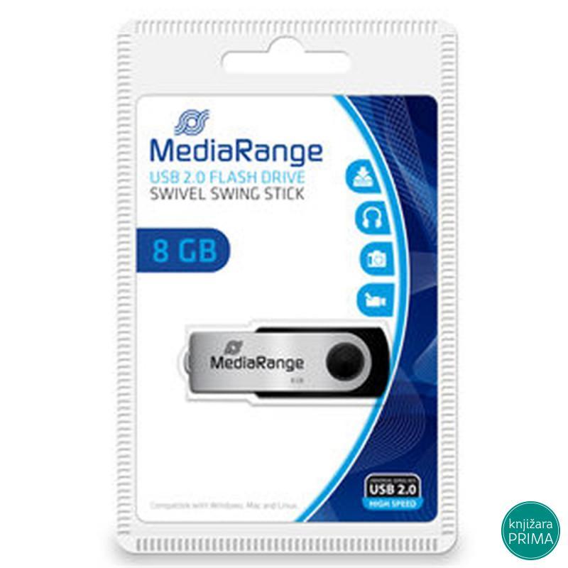 Flash memorija USB 2.0 8GB MEDIARANGE swing