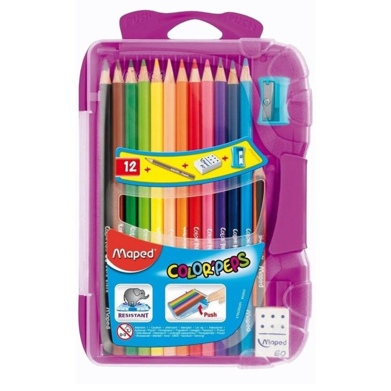 Drvene bojice 12 MAPED colorpeps PVC